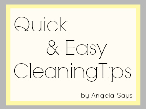 Quick Cleaning Tips