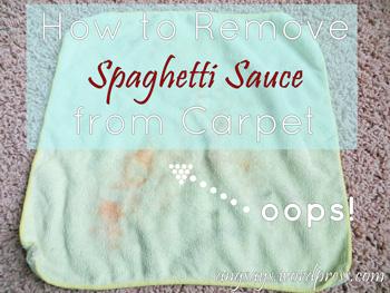 removing spaghetti sauce