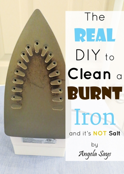 Cleaning a burned iron