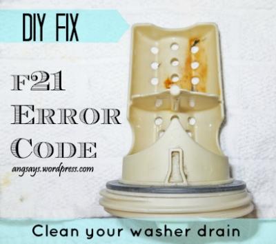 How to fix an F21 error code