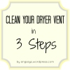 clean a dryer vent