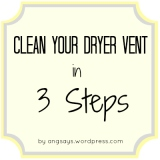 Clean Your Dryer Vent in ThreeSteps
