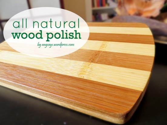 All natural wood polish angela says for Homemade furniture polish mineral oil