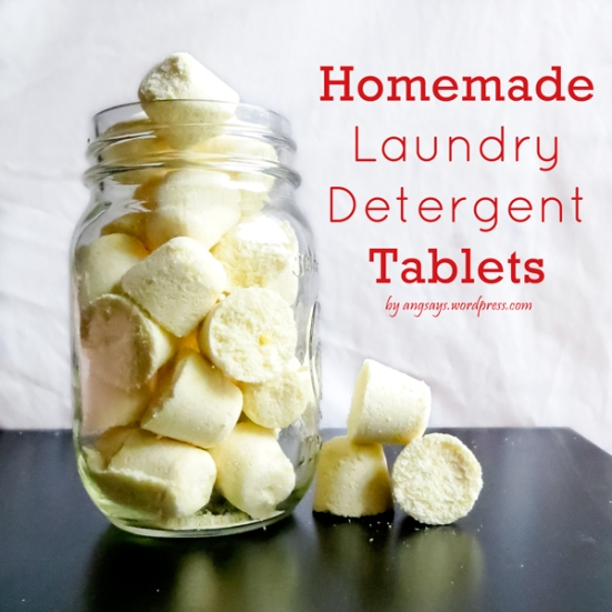DIY laundry tablets