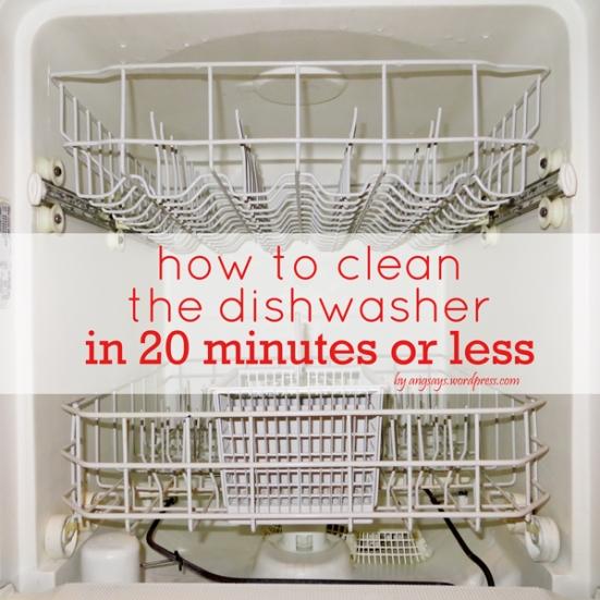 how to clean dishwasher w vinegar