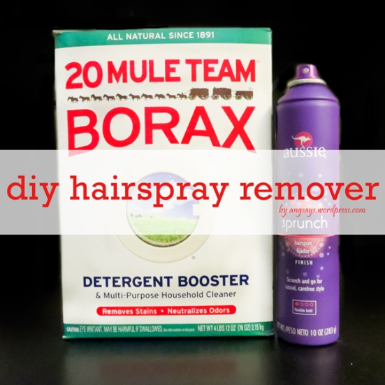 hairspray-remover