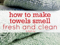 How to Make Towels Smell Fresh and Clean