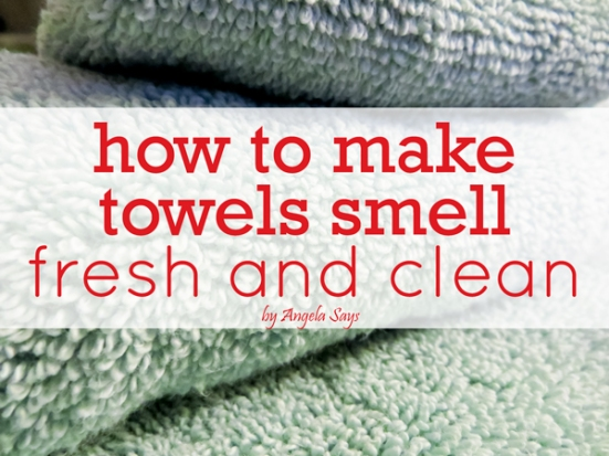 mildew smell out of towels