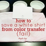 How to Save a White Shirt from Color Transfer {Fail}