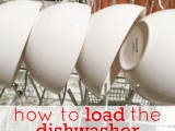 How to Load the Dishwasher {so all of the dishes come out clean}