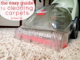 The Easy Guide to CleaningCarpets