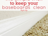 The Simple Trick to Keep Your Baseboards Clean