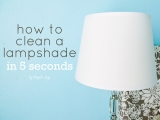 How to Clean a Lampshade in 5Seconds