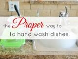 The Proper Way to Hand WashDishes