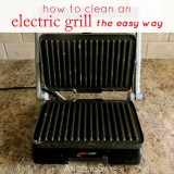 How to Clean an Electric Grill {The EasyWay}